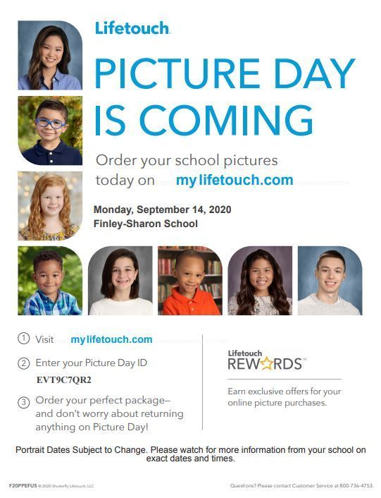 Picture Day-Mon., Sept. 14th!