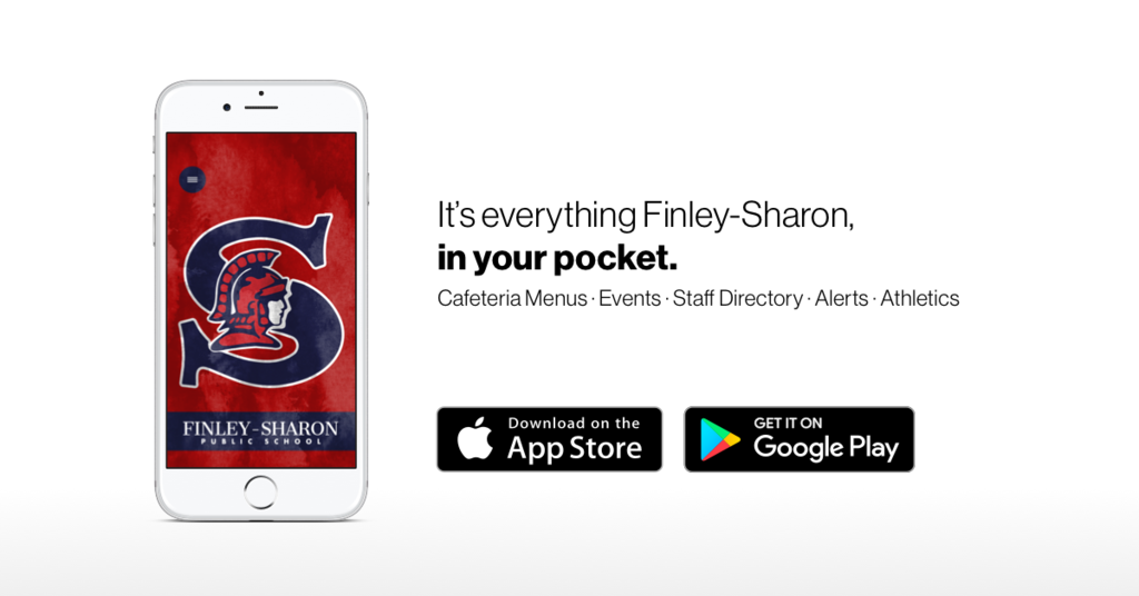 finleysharonschool app image. reminder to download