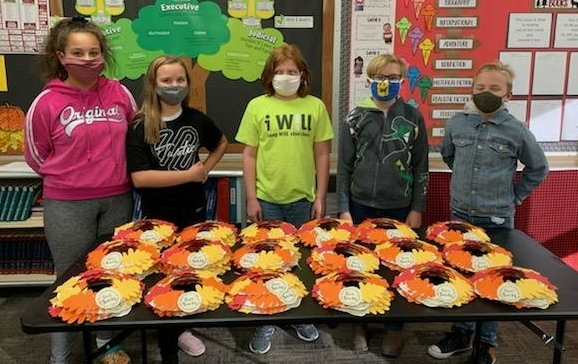 students. fall wreaths