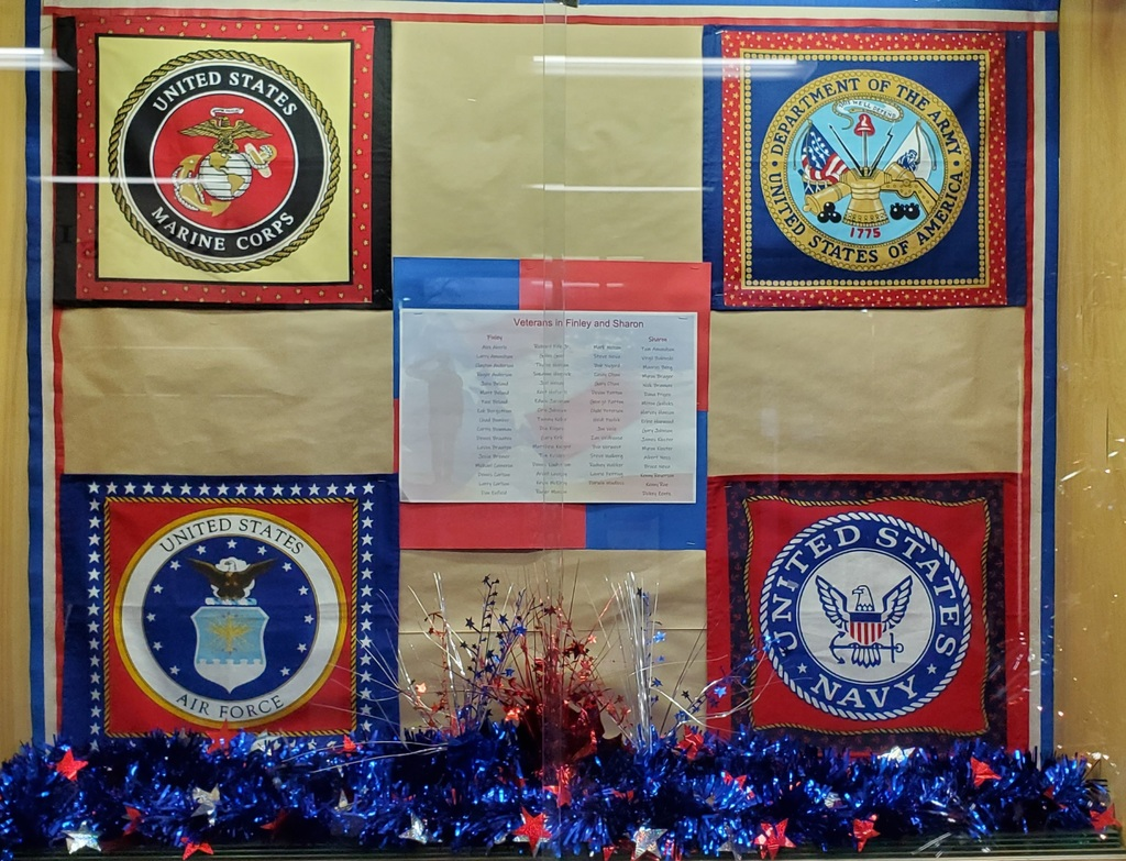 Veterans Day.display case